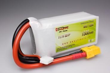 Sway-FPV LiPo 3S 11.1V 1500mAh 60C/120C XT60