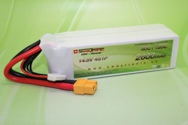 Sway-FPV LiPo 4S 14.8V 2600mAh 60C/120C XT60