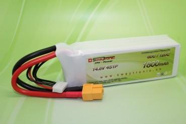 Sway-FPV LiPo 4S 14.8V 1800mAh 60C/120C XT60