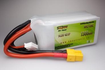 Sway-FPV LiPo 4S 14.8V 1300mAh 60C/120C XT60