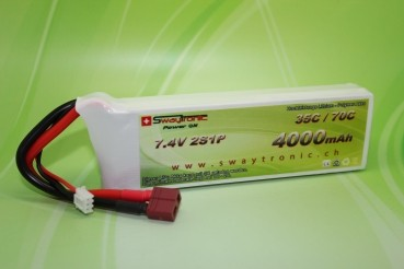 Swaytronic LiPo 2S 7.4V 4000mAh 35C/70C T-Plug